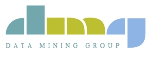 The Data Mining Group, which develops the Predictive Model Markup Language.